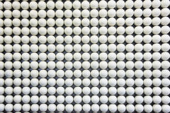 Neat rows of white ball Royalty Free Stock Photography