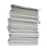 Neat stack of magazines Royalty Free Stock Photography