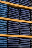 Neat stacks of folded clothing Royalty Free Stock Photography