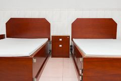 Neat and tidy beds. For soldiers Stock Photography