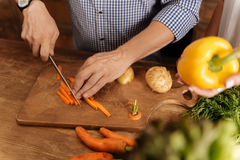 Neat wonderful guy making a meal at home Stock Image