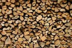 Neat woodpile stock image