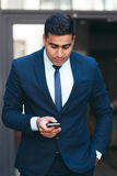 Neat young wealthy busy businessman. Young businesslike neat man. Rich look and appearance. Business fashion and style concept Stock Images