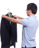 Neaten the jacket Royalty Free Stock Images