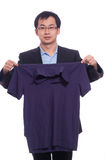 Neaten the shirt Royalty Free Stock Photography