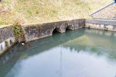 Neath运河水池, Resolven 免版税库存图片