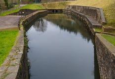 Neath Canal basin, Resolven. Resolven Basin, Neath Canal. Resolven, Vale of Neath, Port Talbot, Wales, United Kingdom Royalty Free Stock Photo