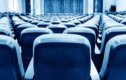 A neatly arranged cinema seat Royalty Free Stock Photos
