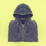 Neatly folded men's hoodies Stock Photography