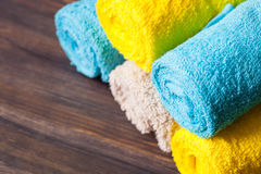 neatly folded towels Royalty Free Stock Photos