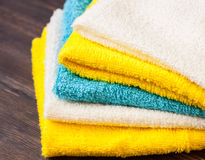 Neatly folded towels Stock Images