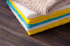 Neatly folded towels Stock Photography