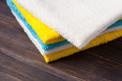 Neatly folded towels Royalty Free Stock Photos