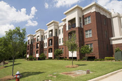 Neatly landscaped apartments Royalty Free Stock Image