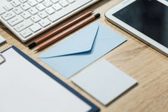 Neatly organized desk Stock Images