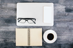 Neatly organized items on table Stock Photography