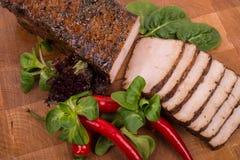 Neatly sliced pork Royalty Free Stock Photos