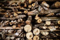 Neatly stacked wood Stock Photos