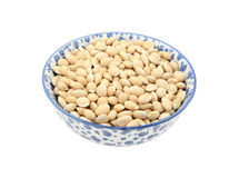 Neavy beans in a china bowl Royalty Free Stock Image