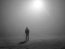 Nebbia â4 di notte Fotografie Stock Libere da Diritti