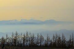 Nebbia alla montagna Fotografia Stock Libera da Diritti