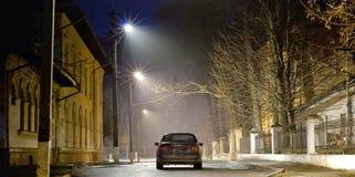 Nebbia alla notte Immagine Stock Libera da Diritti