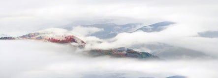 Nebbia del mare dopo pioggia Immagini Stock