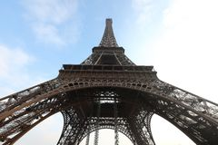 Nebbia della torre Eiffel Fotografie Stock Libere da Diritti