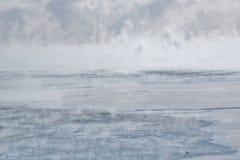 Nebbia di ghiaccio il lago Ontario Fotografia Stock Libera da Diritti