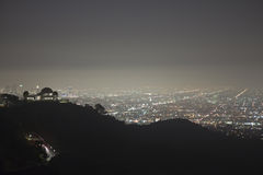 Nebbia di Hollywood Fotografia Stock