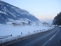 Nebbia di inverno Immagine Stock