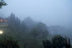 Nebbia di Khaokho Nebbia del mare Immagine Stock