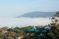 Nebbia di Khaokho Nebbia del mare Fotografie Stock Libere da Diritti