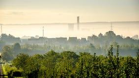 Nebbia di mattina Immagini Stock