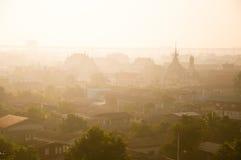 Nebbia di mattina della Tailandia Immagini Stock