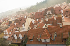 Nebbia di Praga Fotografie Stock Libere da Diritti
