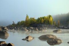 Nebbia e sole Immagini Stock Libere da Diritti