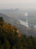 Nebbia lungo il paese Fotografia Stock Libera da Diritti