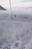 Nebbia in montagne fotografia stock libera da diritti