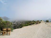 Nebbia in montagne Fotografie Stock