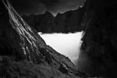 Nebbia in montagne III Fotografia Stock Libera da Diritti