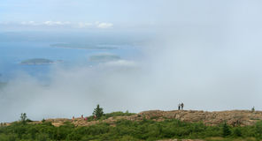 Nebbia nel parco nazionale di acadia fotografia stock libera da diritti