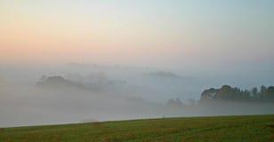 Nebbia nella valle Fotografie Stock