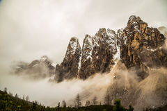 Nebbia nella valle Fotografia Stock