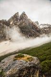 Nebbia nella valle Immagine Stock