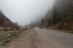 Nebbia nelle montagne Fotografie Stock Libere da Diritti