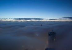 Nebbia pesante sopra la città di Sydney Australia immagine stock libera da diritti