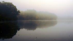 Nebbia su acqua Fotografia Stock Libera da Diritti