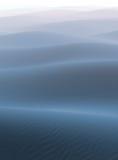 Nebbia sul deserto blu Fotografie Stock Libere da Diritti