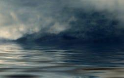 Nebbia sul mare aperto Fotografia Stock